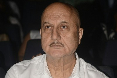 Anupam Kher and 'The Kashmir File' unit have a New Year's Eve bash at work