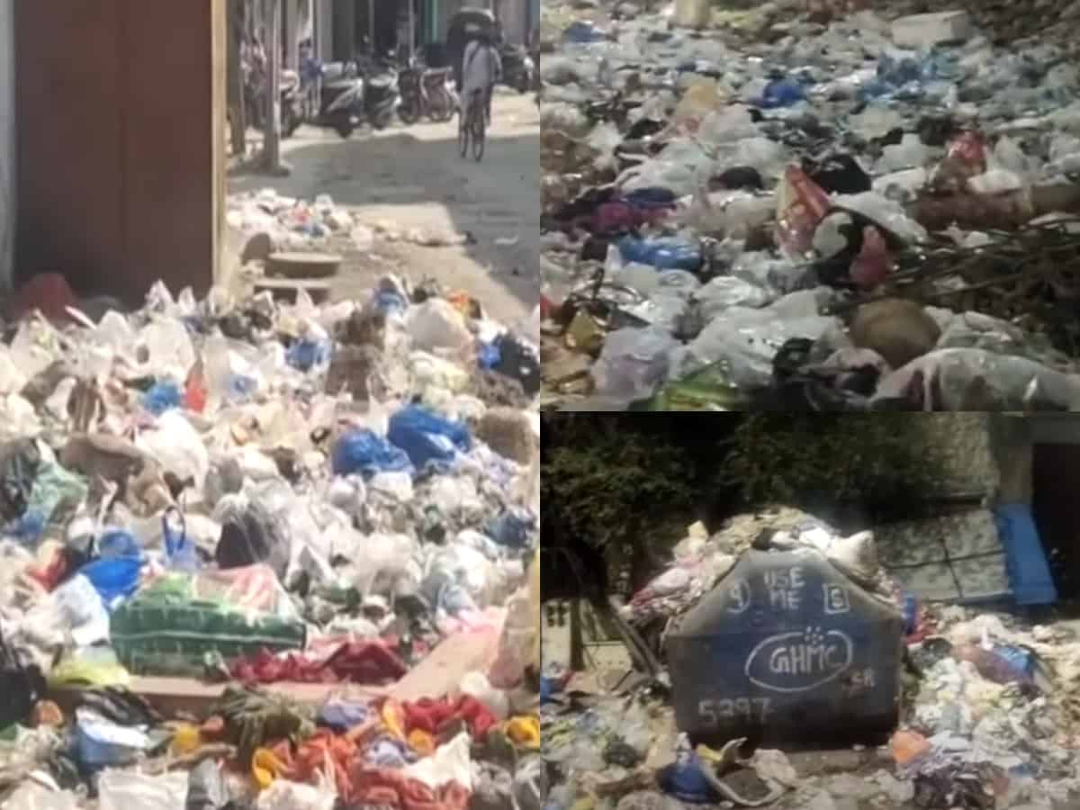 Hyderabad: Heaps of garbage piled up on roads causes fear