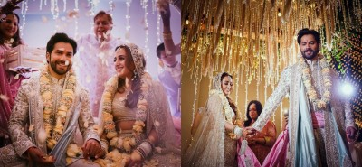 Bollywood showers love on newlyweds Varun and Natasha