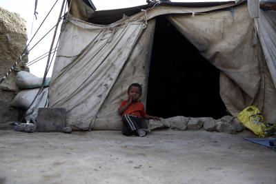 Displaced Yemeni families face harsh living conditions