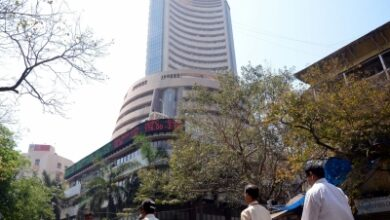 Equity indices rise, Sensex above 49,600