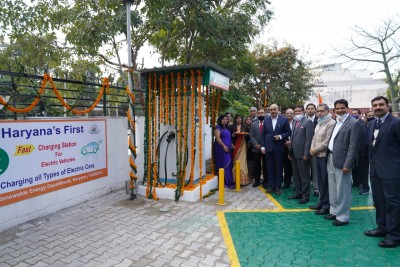 First ever free public charging station for EVs opens in Panchkula
