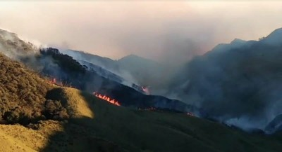 IAF copter deployed to battle Dzukou Valley wildfire