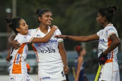 India juniors beat Chile seniors 2-0 in women's hockey