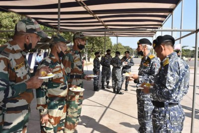 Indian Navy chief reviews security situation at forward operating base in Gujarat