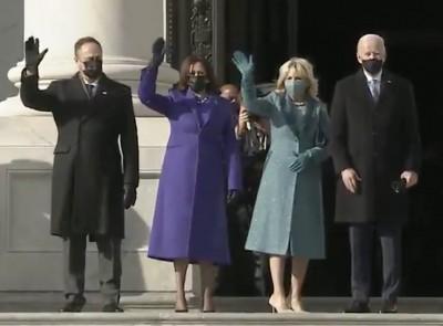 Kamala Harris chooses royal blue outfit by Black designers
