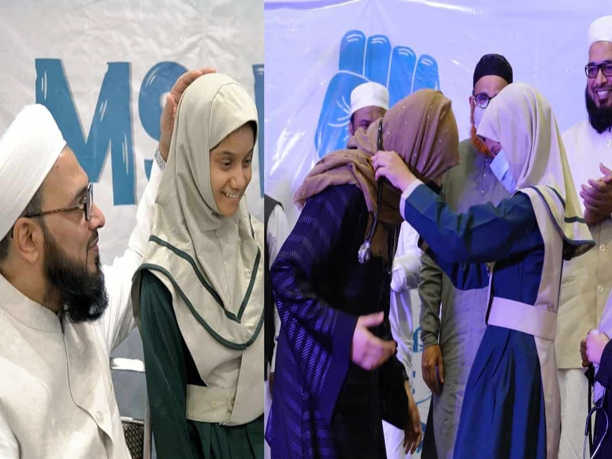 Motivation program under M S Education, orphan studentsfelicitate successful Med students