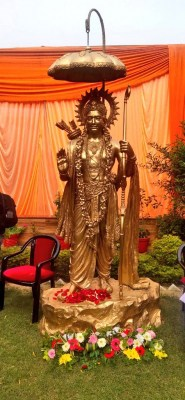 Nadda unveils Lord Ram's statue in party office