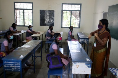 Students of Classes X, XII return to schools in TN