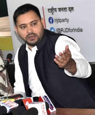 Tejashwi flays Nitish for circular against anti-government social media posts