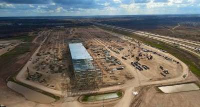 Tesla's new Gigafactory in Texas begins to take shape