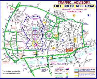 Traffic curbs for R-Day dress rehearsal on Saturday