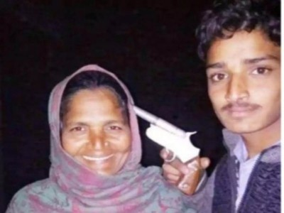 UP: Youth poses with gun at his mother's head, arrested