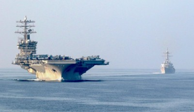 US aircraft carrier to remain in Middle East: Pentagon