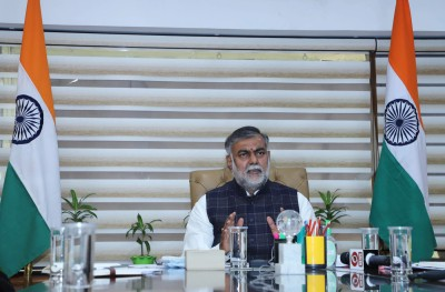 Union Minister Prahlad visits Red Fort to assess 'damage'