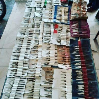 West Godavari police seize 482 cock knives, 8 gambling boards