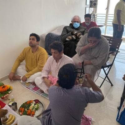 When #BernieSanders joined Adhyayan Suman's housewarming puja