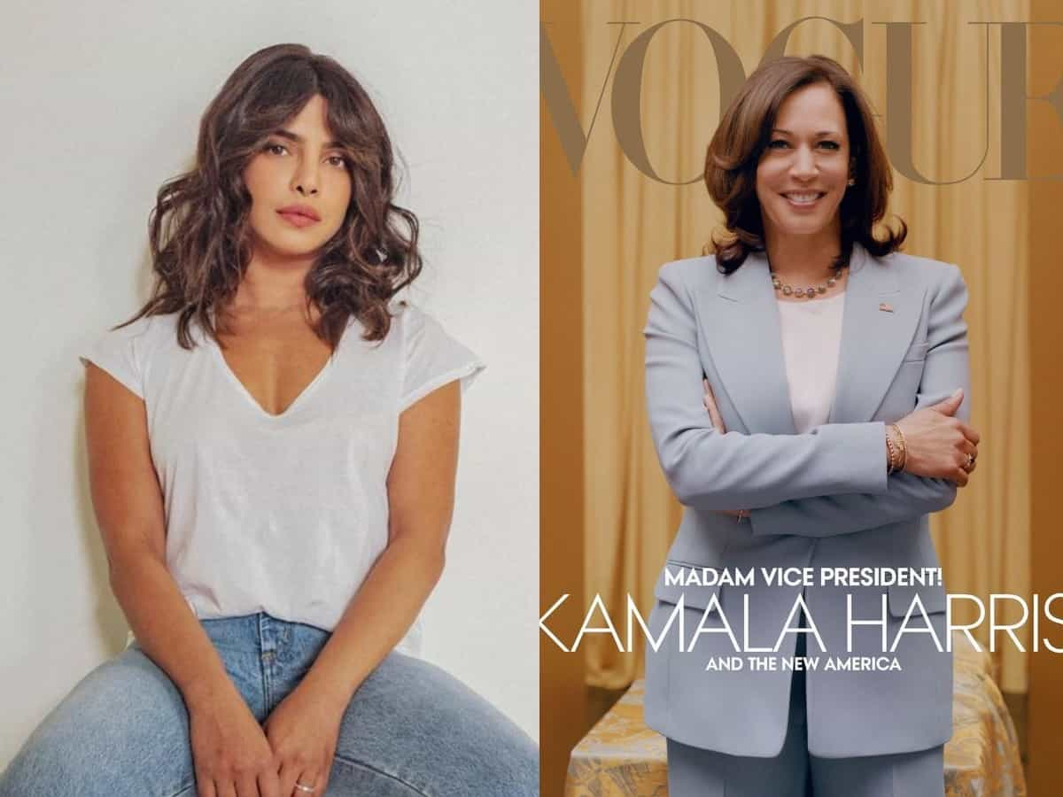AN INDIAN WOMAN : Priyanka Chopra is all praises for US VP-elect Kamala Harris