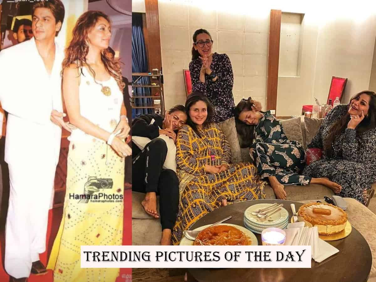 Photos of the day: SRK's throwback, Kareena's girl gang to Priyanka's 'lean teen' memory