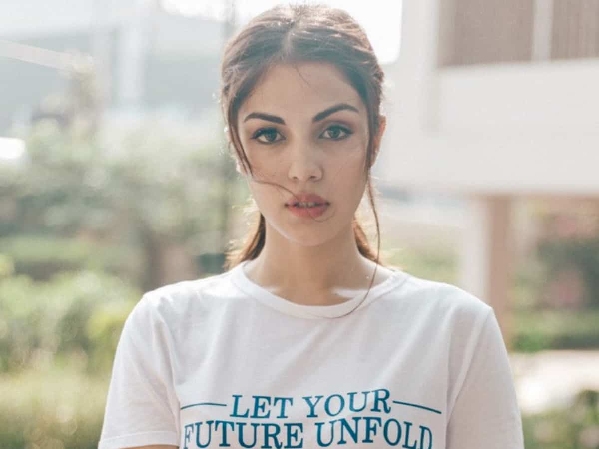 Watch: Days after bail, Rhea Chakraborty visits NCB office
