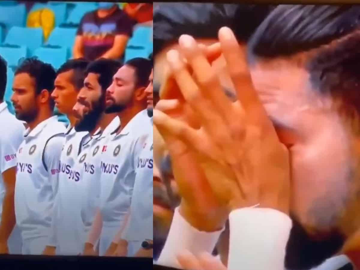 Watch: Siraj gets emotional while singing national anthem at MCG