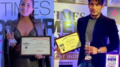 Bigg Boss personalities Hina Khan, Sidharth Shukla receive Times awards; see pics