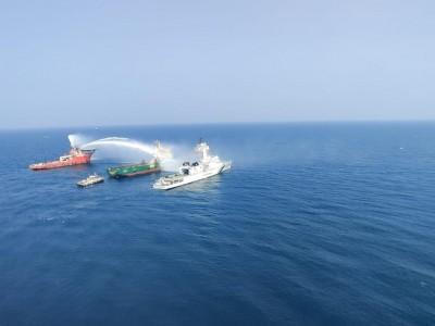 3 sailors missing, 1 hurt as fire breaks out in ship in Arabian Sea