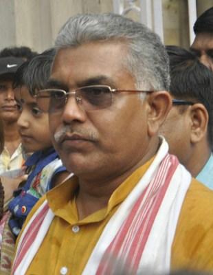 Bengal BJP chief Dilip Ghosh shown black flags in Darjeeling