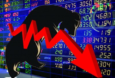 Market continues to fall, Sensex down 400 points