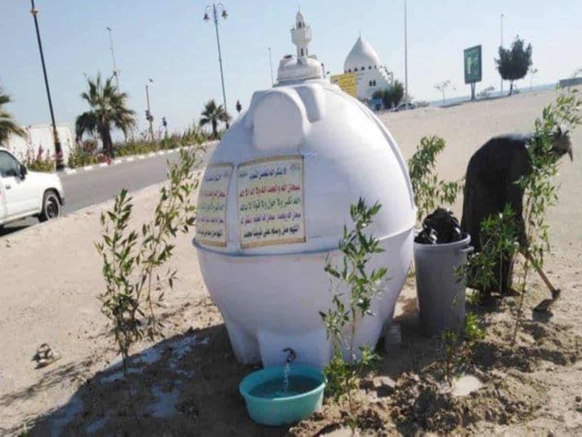 Saudi citizen's kind initiative helps animals, birds beat the heat