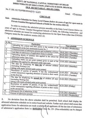 Nursery admissions process begins in Delhi