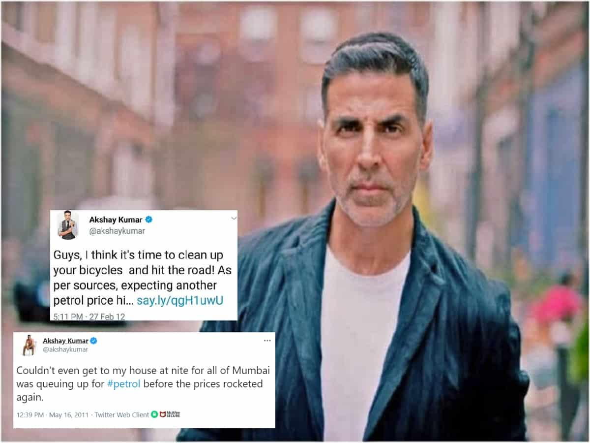 'Clean up your bicycles, hit the roads': Akshay Kumar's 2012 tweet on soaring fuel prices goes viral