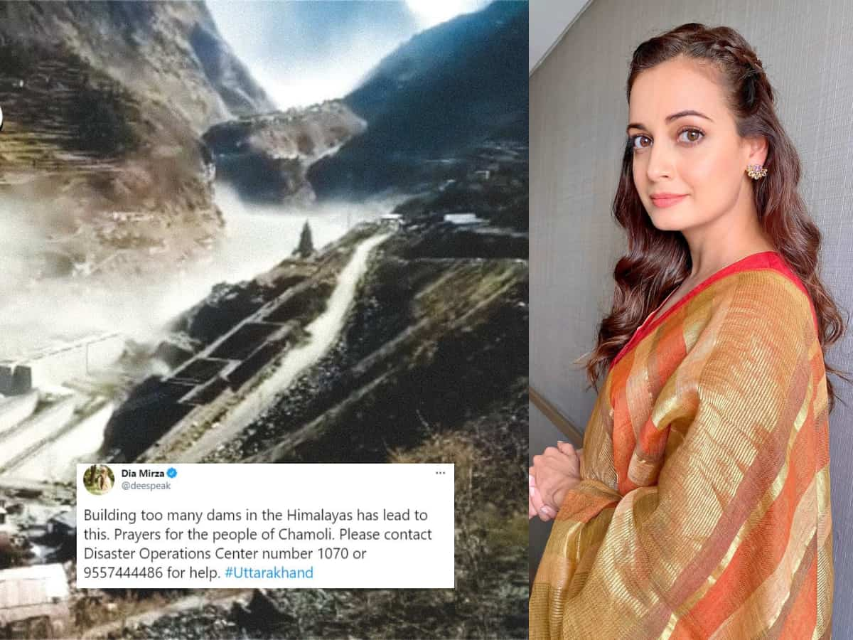 Dia Mirza receives criticism for claiming dams were responsible for Uttarakhand tragedy