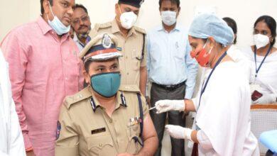 Rachakonda commissioner of police Mahesh Bhagwat takes first shot
