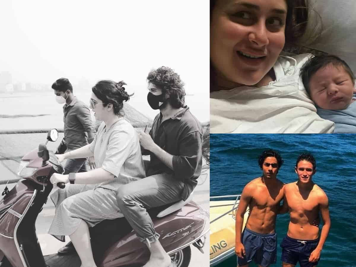 Viral pics: Kareena's pic with newborn; Vijay Devarakonda's scooty ride in Mumbai; SRK at Gateway of India