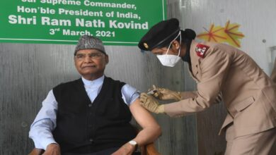 President Kovind receives first dose Of COVID-19 vaccine at Army Hospital in Delhi