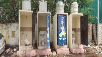 Damaged Public toilets at Vijay Nagar colony