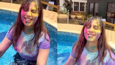 Arshi Khan enjoyed Holi with Goan hues this year