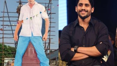 Star-fan? : Naga Chaitanya unveils huge cut-out of Mahesh Babu in this viral video
