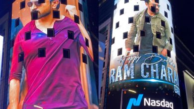 Ram Charan features on New Yorks's iconic Times Square, see pics