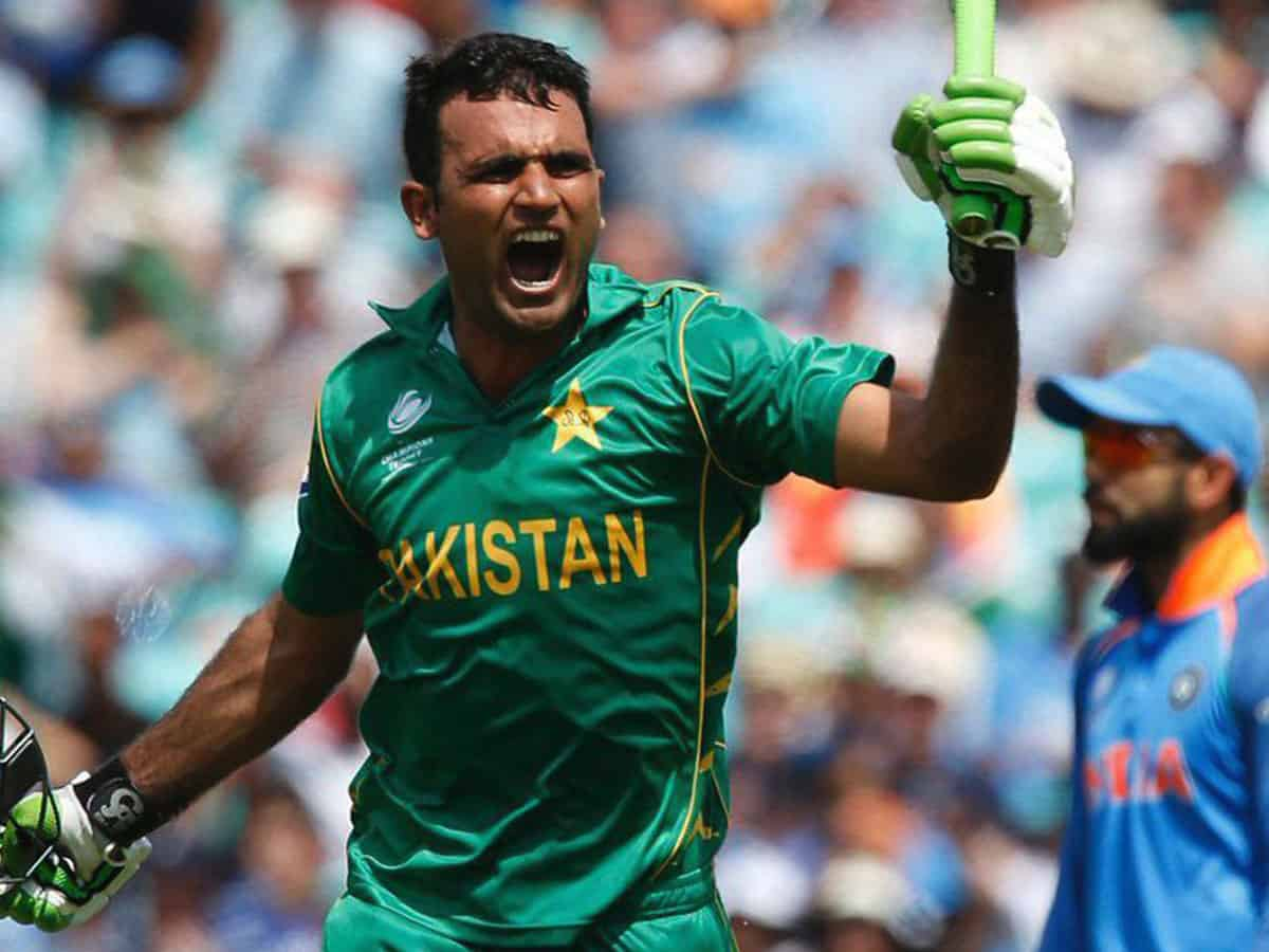 Fakhar Zaman celebrates his first-ever century | ICC- Twitter