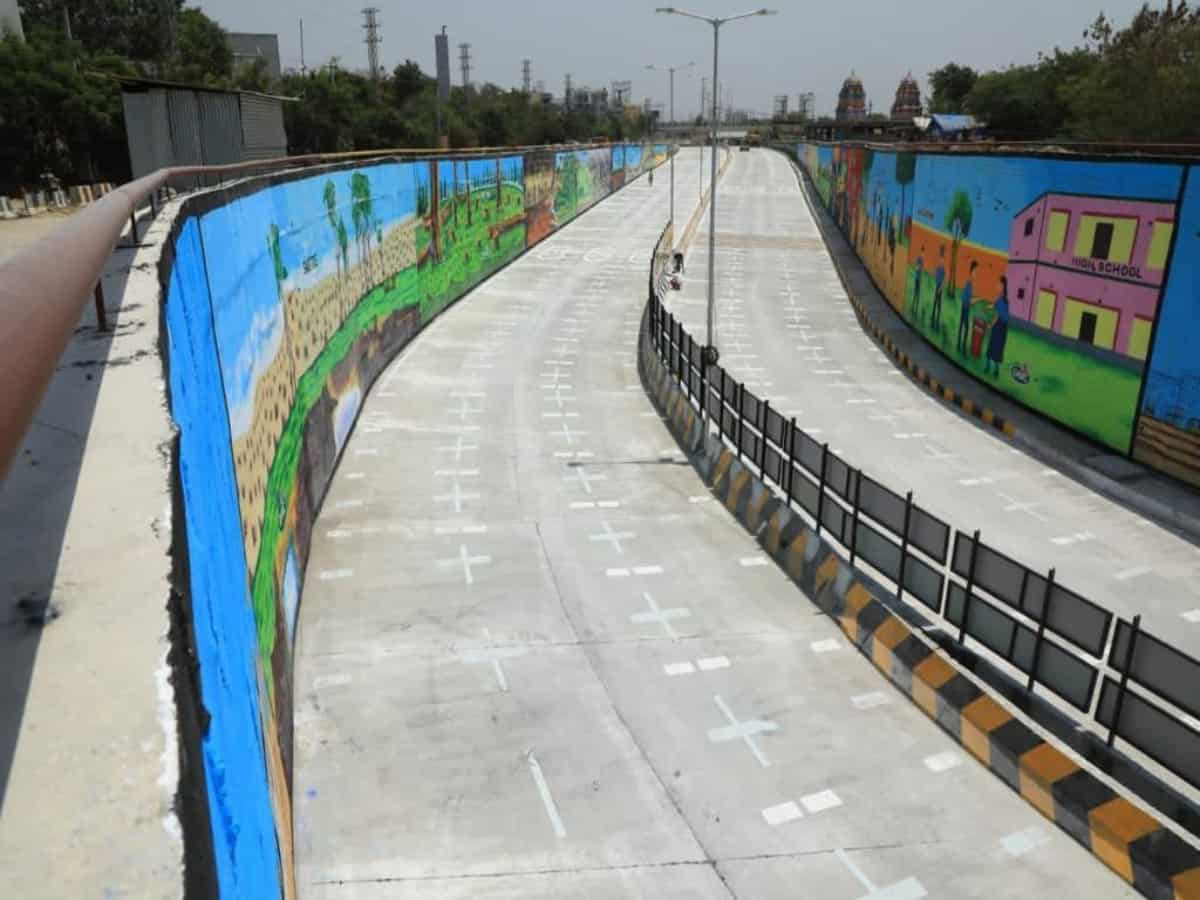 New road-under-bridge at Hitec City inaugurated; to ease traffic in IT corridor