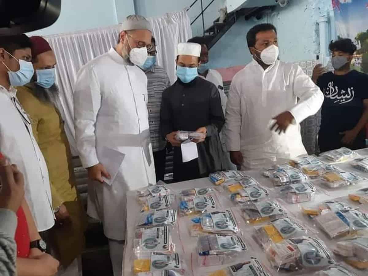 Hyderabad: Asaduddin Owaisi launches COVID-19 helpline under Majlis charity trust