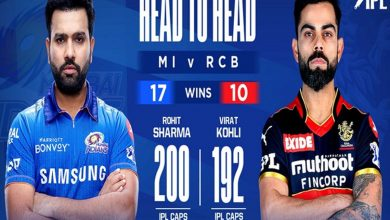 Mumbai Indians score 159/9 against RCB in IPL opener