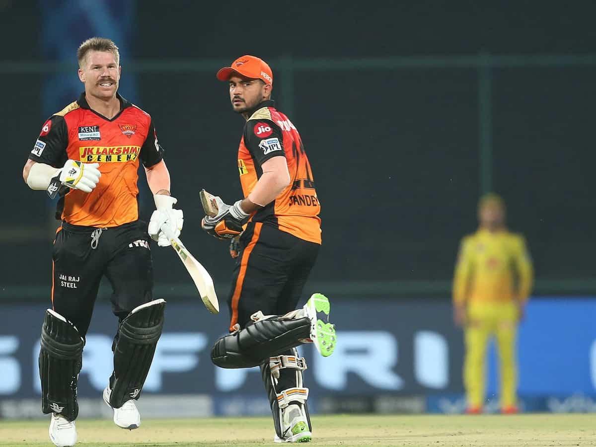 IPL 2021: Sunrisers Hyderabad set Chennai Super Kings 172-run target