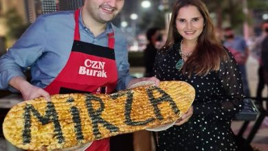 Sania Mirza meets CZNBurak in Dubai; receives his signature bread