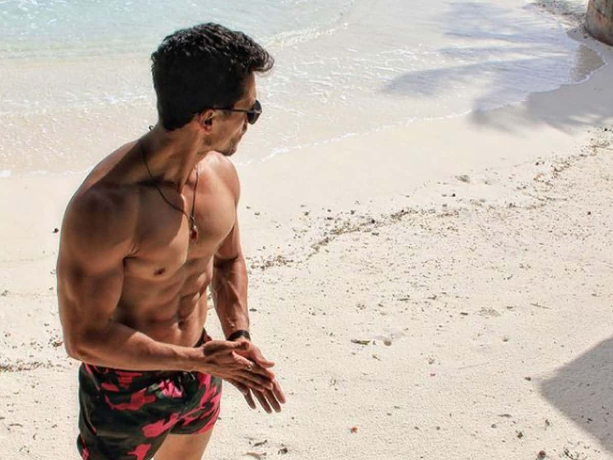 Tiger Shroff flaunts flashboard abs in stunning beach photo