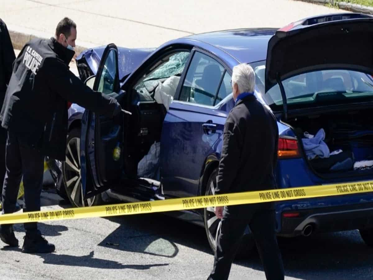 Man rams car into US Capitol; one police officer killed, another injured
