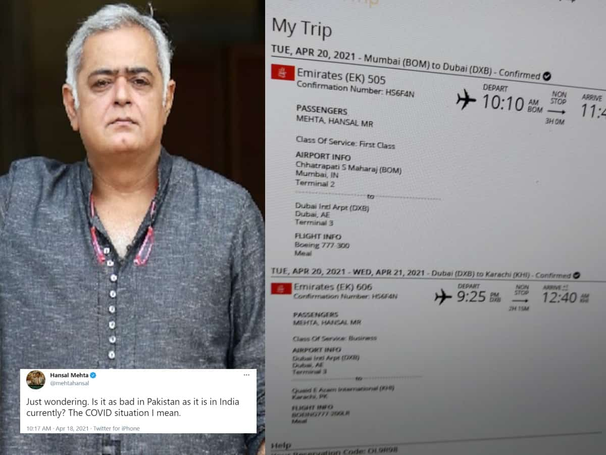 Hansal Mehta compares COVID-19 in India & Pak; gets ticket to Karachi, Why?