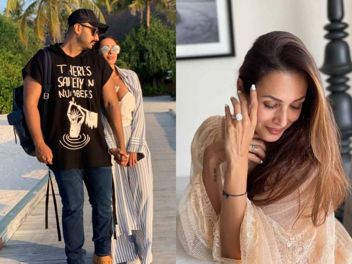 Malaika Arora poses with enagagement ring; fans congratulate actress and beau Arjun Kapoor